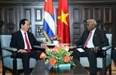 Le Vietnam réaffirme la solidarité et le soutien à Cuba