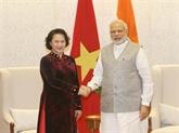 Activités de la présidente de l'AN Nguyên Thi Kim Ngân en Inde