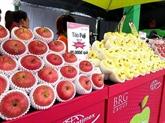 Des pommes japonaises d'Aomori vendues au Vietnam