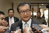 L'opposant cambodgien Sam Rainsy condamné à cinq ans de prison