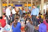 Soutien aux victimes de l'incendie à Chak Angre Krom, Cambodge