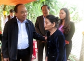 Quang Nam : le vice-PM Nguyên Xuân Phuc rencontre des électeurs de Nam Trà My
