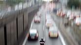 Les motards manifestent contre le futur contrôle technique