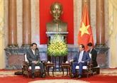 Le président vietnamien rencontre l'ambassadeur spécial Vietnam-Japon, Sugi Ryotaro