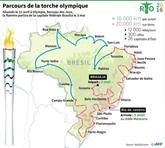 Brésil : la flamme olympique arrive, Rousseff s'apprête à partir
