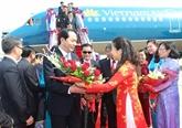 Trân Dai Quang commence sa visite officielle au Laos et au Cambodge