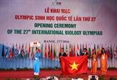 Ouverture des 27es Olympiades internationales de biologie à Hanoi