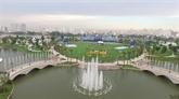 Inauguration du parc Vinhomes Central Park à Hô Chi Minh-Ville