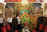 Vœux à l'Église bouddhique du Vietnam à l'occasion de la fête Vu Lan