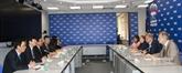 Une délégation de la Commission centrale de propagande et de l'éducation en Russie