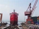 Mise à flot d'un ravitailleur de plate-forme de 3.850 tonnes