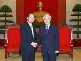 Nguyên Phu Trong reçoit le secrétaire général du PLD (Japon)