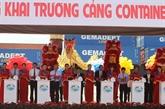 Inauguration du port de conteneurs SP-ITC à Hô Chi Minh-Ville