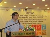 Les Objectifs de développement durable au cœur d'un colloque à Hô Chi Minh-Ville