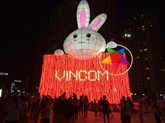 Hanoï : la plus grande lanterne en forme de «lapin» du Vietnam