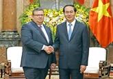 Le président Trân Dai Quang reçoit le procureur du Parquet suprême bulgare