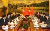 Entrevue entre Nguyên Phu Trong et Li Keqiang
