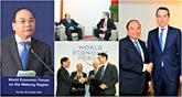 Le PM vietnamien occupé des rencontres au Forum économique mondial