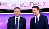 Primaire PS : débat TV entre Benoît Hamon et Manuel Valls