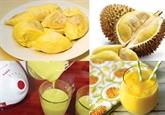 Sorbet durian - lait de coco pour amateurs de durian