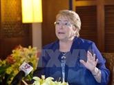 La présidente chilienne apprécie la capacité d'organisation du Vietnam