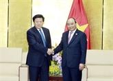 Le Premier ministre Nguyên Xuân Phuc reçoit des responsables de grands groupes de l'APEC