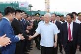 Le secrétaire général du PCV travaille à Hai Phong