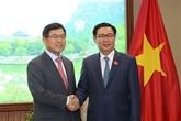 Le vice-Premier ministre Vuong Dinh Huê reçoit le dirigeant de Samsung au Vietnam