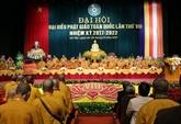 Clôture du VIIIe Congrès national de l'Église bouddhique du Vietnam à Hanoï