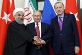 Syrie : Poutine rallie Erdogan et Rohani à l'idée d'une réunion politique en Russie