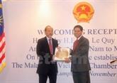 La Chambre du commerce Malaisie - Vietnam voit le jour