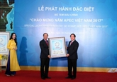 Diffusion d'une collection de timbres saluant l'Année de l'APEC Vietnam 2017