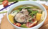 Soupe aigre-douce au poisson pangasius