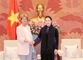La présidente de l'Assemblée nationale vietnamienne reçoit l'ambassadrice d'Espagne