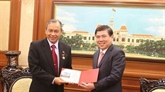 Le président du Comité populaire de Hô Chi Minh-Ville reçoit le consul général d'Indonésie
