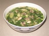 Soupe aux courgettes et coques