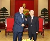 Les dirigeants vietnamiens reçoivent le président israélien à Hanoï