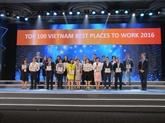 Cent meilleures entreprises où travailler au Vietnam de 2016