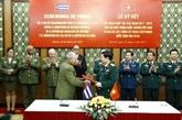 Le Vietnam et Cuba renforcent leur coopération dans la défense
