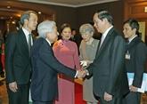 Le président Trân Dai Quang dit adieu à l'empereur japonais avant son départ pour Huê