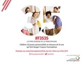Deuxième édition des Prix Jeunesse de la Francophonie 35<35