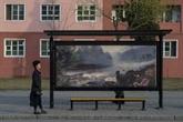 La RPD de Corée : aux abribus, des paysages remplacent les pubs
