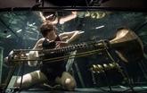 Des musiciens en aquarium font du bruit dans le monde du silence