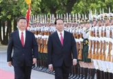 Le président Trân Dai Quang reçu par son homologue chinois