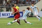 Le match U22 Vietnam - U20 Argentine se termine au score 0-5