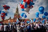 Immense manifestation à Moscou pour le 1er mai