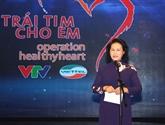 Environ 21 milliards de dôngs collectés pour les enfants atteints de cardiopathie congénitale
