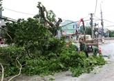 Réparation des dégâts provoqués par le typhon Talas