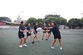 Cinq adolescentes vietnamiennes à Belfast pour un tournoi de rugby