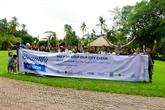 Journée nettoyage à l'île de Thanh Da